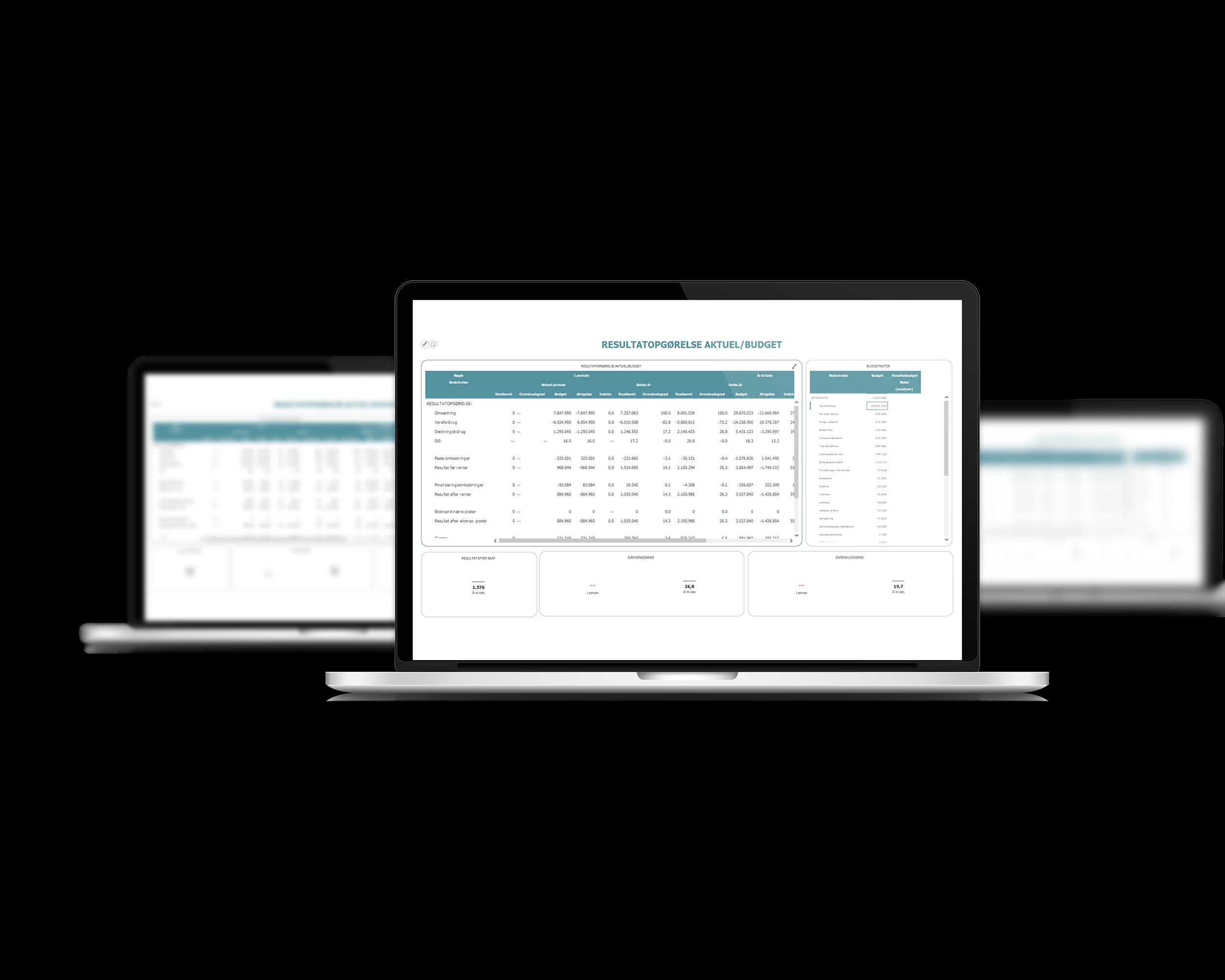 Finansiel rapportering i InfoSuite